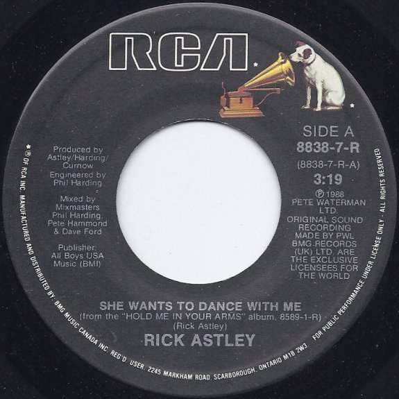 ckso am, fm & tv | record labels (45 rpm) | she wants to dance with